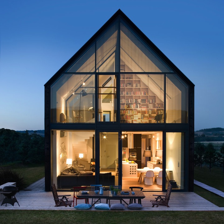 Large Glass Walled Minecraft House: Architekt Wnętrz » Projekty Domów, Mieszkań